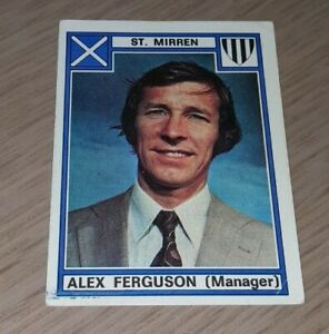 Panini football 78 Alex Ferguson Rookie Football Sticker Number 518 St Mirren