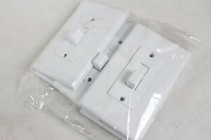5 New TayMac Decorator Light Switch Covers White Toggle Wall Modern Clean Look
