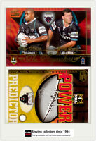 2005 Select NRL Power Predictor Card + Playmaker PM10 R. WESSER / C. GOWER**