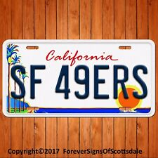San Francisco Forty Niners 49ers Aluminum License Plate Tag New