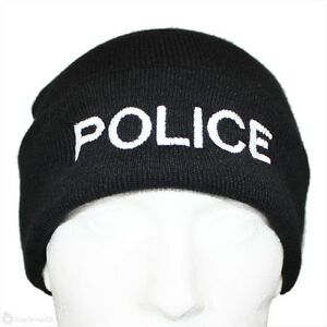 POLICE Beanie / Woolly Hat (BLACK) for PCSO, SECURITY, PRISON OFFICER