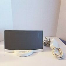 White Bose SoundDock Series 1 - 30 pin iPod iPhone dock with AC Adpater TESTED