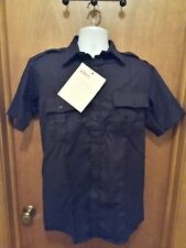 NEW Topps Safety Apparel SH96 7505 Navy Public Safety FR Work Shirt M 15-15.5