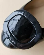 Michael KORS PAULINE MK LOGO BUCKLE BLACK PATENT BALLET FLATS US 9 I LOVE SHOES