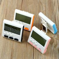 Großer 24 Stunden Kitchen LCD Digital Magnetischer Alarm Count Down Clock Timer