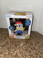 NEW 3.5 FT TALL  DESPICABLE ME STUART MINION AIRBLOWN INFLATABLE LED GEMMY HTF