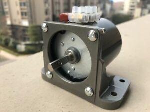Synchronous Motor 60KTYZ AC 110V 60Hz 1 rpm/m CW/CCW 14W Gear Motor + Bracket