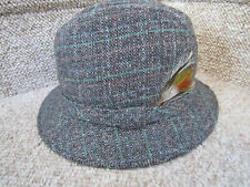 New ListingStetson Gray Tweed Wool Bucket Fedora Hat Cap Insulated Size M  7-7 1 8 USA Made! 27e2b69bc52a