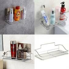 Stainless Steel Non Rust Bathroom Shower Shelf Storage Suction Basket Caddy Tidy