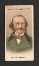 Jacques OFFENBACH German/French Composer Cellist Impresario 1912 original print