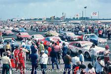 1975 DAYTONA 500 8X10 PHOTO #43 RICHARD PETTY #21 DAVID PEARSON #16 AMC ALLISON