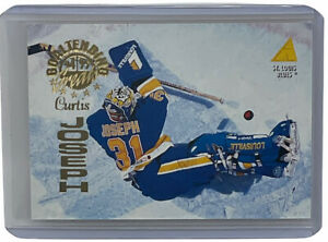 Curtis Joseph 1994-95 Pinnacle Goaltender Greats NHL Hockey Insert Card #GT13