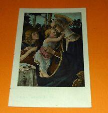 CHROMO 1932 IMAGE PIEUSE CATHOLICISME HOLY CARD VIERGE MARIE ET ENFANT JESUS