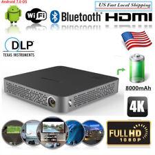 Mini 5500 Lumens Android 7.0 DLP 4K HD Home Theater Projector Wifi HDMI/USB US