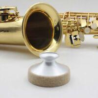 Alto Saxophone Mute Sax Sound Silencer Metal Aluminum Dampener Practice D