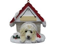 """Labradoodle Ornament  Hand Painted and Easily Personalized """"Doghouse Ornament"""""""
