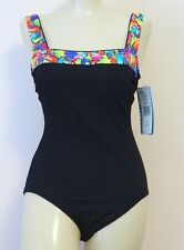 52f067ee366 Gabar Vintage Swimsuit One Piece Black Size 8 New With Tags