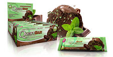 Quest Protein Bar | Box of 12 Mint Chocolate Chunk | Cookies Cream | Dough |