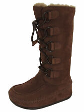 Fitflop Womens Tall Mukluk Moc 2 Boot Shoes, Chocolate Brown, US 5