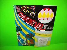 Sega CARNIVAL Original Arcade Flipper Game Pinball Machine Flyer 1971 Japan RARE