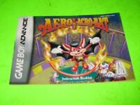 AERO THE ACRO-BAT :NINTENDO GAME BOY ADVANCE INSTRUCTION BOOKLET MANUAL ONLY