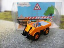 1/87 Epoche MB Unimog Baaslader mit Fahrer orange 20434