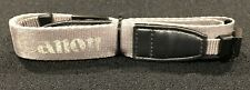 Used Genuine Canon Neck / Shoulder Carry Strap, Silver & Black OEM Piece