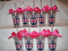 Anchor tumblers, Personalized acrylic tumbler 16oz, wedding party, girls getaway