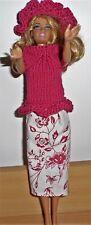 Vêtements Pour Barbie jupe pull capeline  NEUF lavables résistants