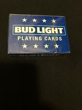 Bud Light Beer Playing Cards by Anheuser Busch New Sealed