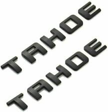 2PCS  FIT TAHOE CHEVROLET BLACK MATTE EMBLEMS DOOR BADGE LETTERS CHEVY TAILGATE