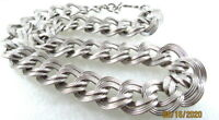 Vintage Monet Bold Silver Tone Necklace Heavy Chain Link