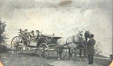 Full Plate Ambrotype of Carriage by Niagara Falls ~ Admiral & Two Women 1865-70