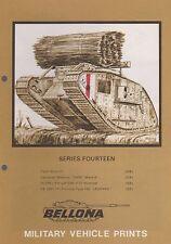 BELLONA Military Vehicle Prints Series 14 (UK WWI Tank Mk IV, Hummel, VK3001)