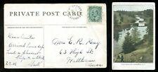 2203 - OYSTER BED BRIDGE PEI 1906 Split Ring on Trout  Stream Montague Postcard