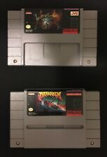Lot of 2 original SNES games, Dungeon Master and Drakkhen  (tested and working)