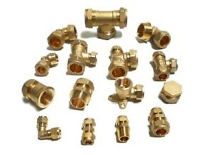 COMPRESSION PLUMBING FITTING ALL TYPES STRAIGHTS TEES ELBOWS OLIVES 15mm 22mm 10