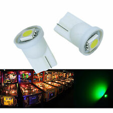50x #555 T10 1 SMD 5050 LED Pinball Machine Light Bulb Green AC/ DC 6.3V P2