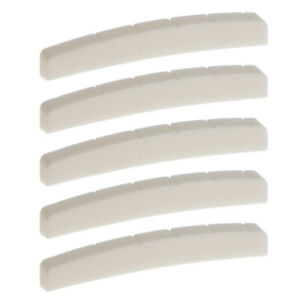 5x Beige Buffalo Bone Slotted Nuts for    Telecaster Guitar