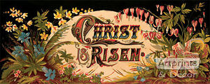 Christ is Risen - Art Print of Vintage Art