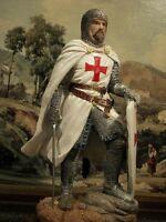 "Hand Painted Medieval Crusader Knight Sword Crusade Polyresin Gift 20 cm/7.87 """