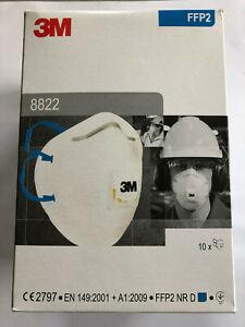 10x Feinstaubmaske FFP2 mit Ventil 3M Original 8822