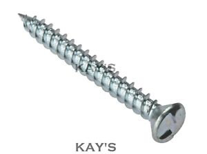 SECURITY WOOD SCREWS ONE WAY ANTI VANDAL CLUTCH HEAD NON REMOVABLE ZINC PLATED