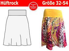 Einfacher Damen Hüftrock mit Bündchen, Damenrock Schnittmuster & Nähanleitung