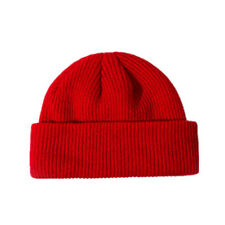 New Retro Fisherman Trawler winter Knit ribbed Turn up Wooly Beanie Docker Hat
