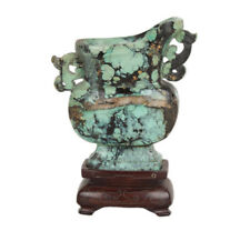 Cina 19. JH. Turchese Kong-A small Chinese Turquoise Libation Cup-cinese Qing