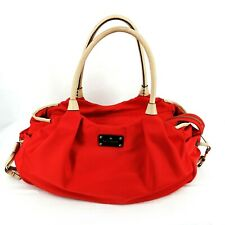 KATE SPADE Stevie Diaper Bag Satchel with Leather Straps RED/BEIGE