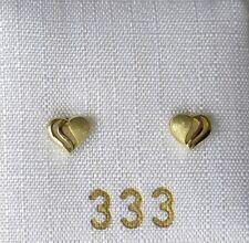 Kinderschmuck Kinderohrringe Ohrstecker Kinder Herz 333 Gold NEU