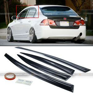 Fit 06-11 Honda Civic 4DR Sedan Wavy Mugen Style 4 Pcs Tinted Window Visor Guard