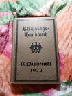 +++ Reichstagshandbuch von 1933 +++